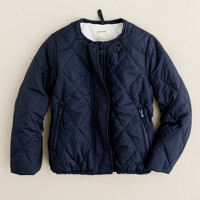 Girls' quilted barn jacket
