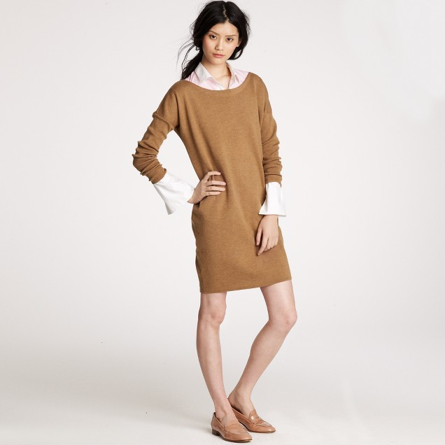 Dolman-sleeve sweater-dress