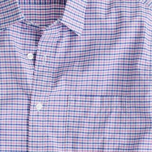 Slim Secret Wash shirt in classic pink gingham
