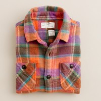Boys' vintage camp flannel shirt in Cabbot plaid