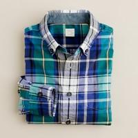 Boys' Secret Wash shirt in Martin plaid