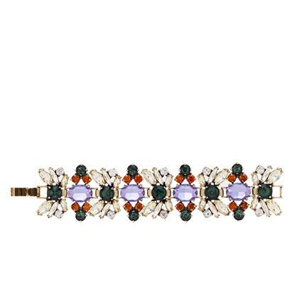 Fall floral crystal bracelet