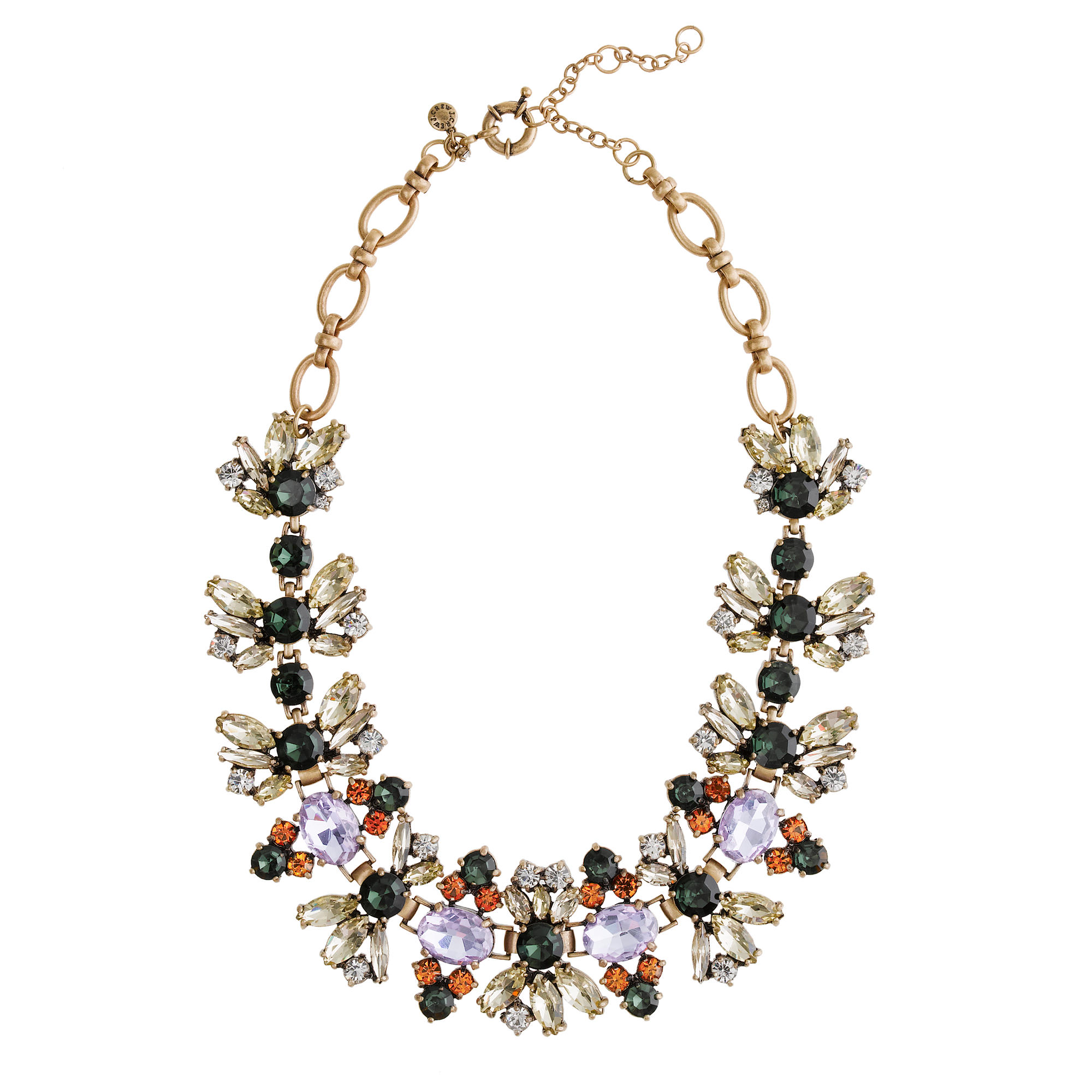 Fall floral crystal necklace j crew for J crew jewelry 2015