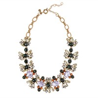Fall floral crystal necklace
