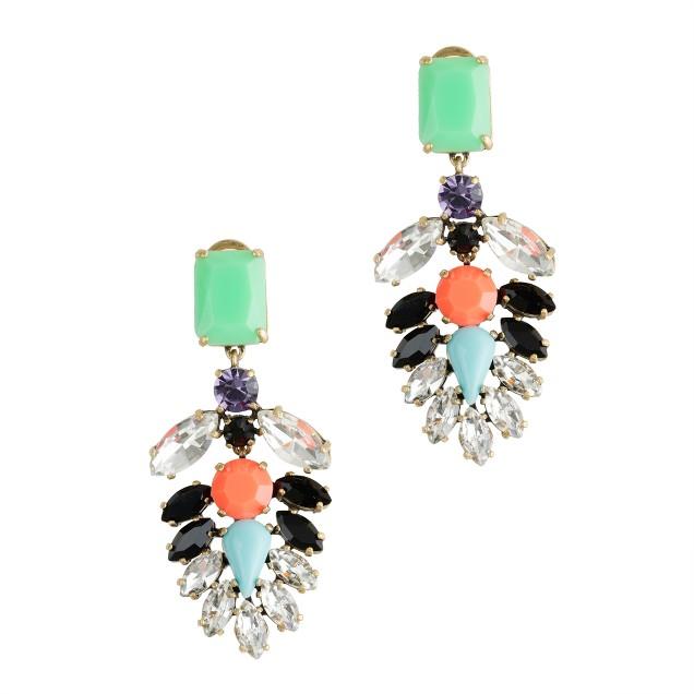 Crystal-encrusted earrings