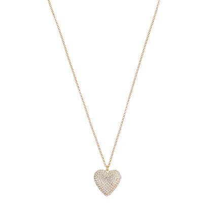 Pavé heart pendant necklace
