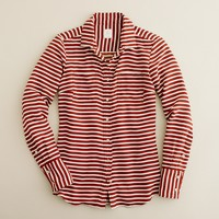 Boy shirt in stripe crepe de chine