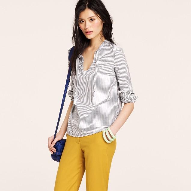 Indigo-stripe Bonnie blouse
