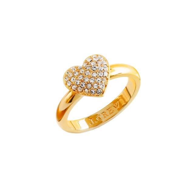 Pavé heart ring