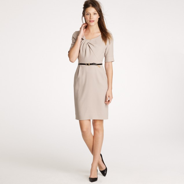 Index dress in wool crepe