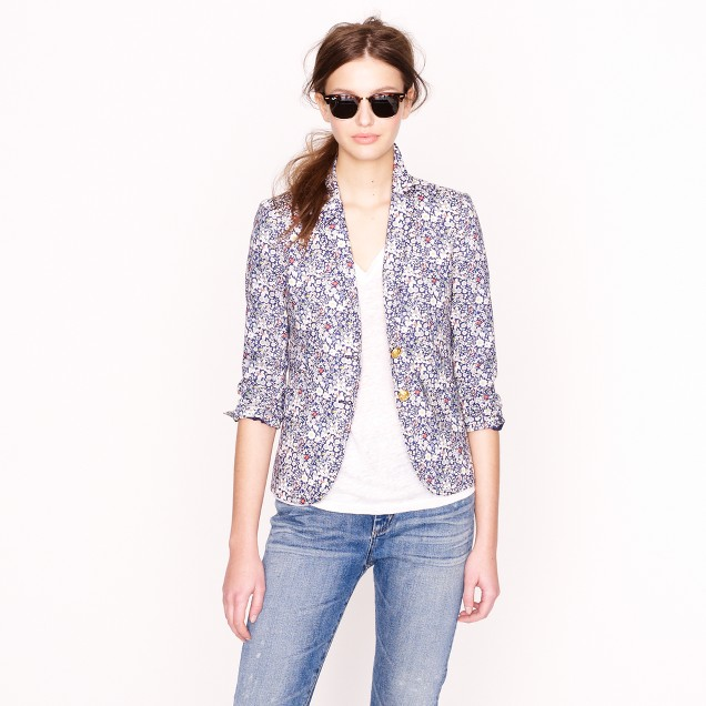 Liberty classic schoolboy blazer in June's Meadow floral