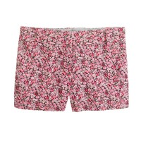 "Liberty 3"" chino short in Chive floral"