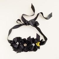 Jeweled flower sash
