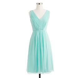 Petite Louisa dress in silk chiffon