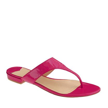 Tybee patent slide sandals