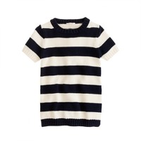 Girls' navy stripe knit tunic
