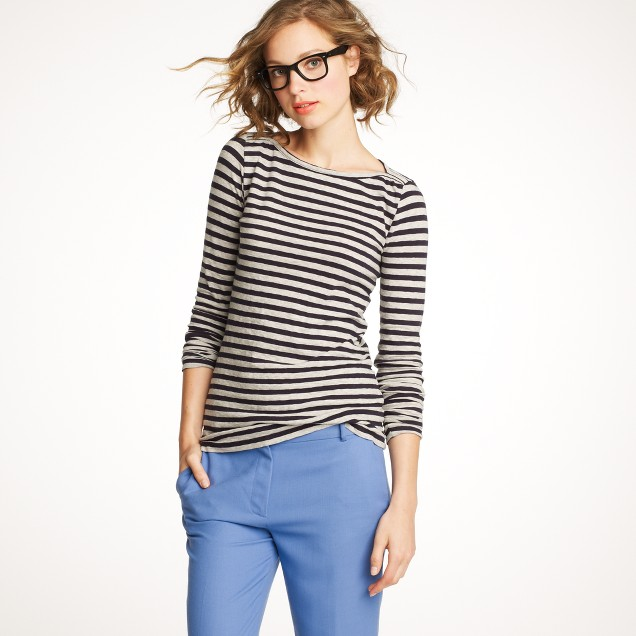 Boatneck painter tee in stripe