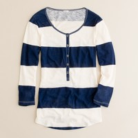 Vintage cotton rugby-stripe henley