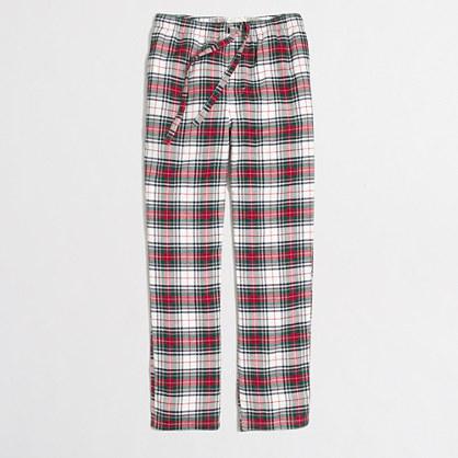 Plaid flannel pajama pant