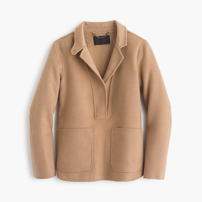 Collection double-faced cashmere popover jacket