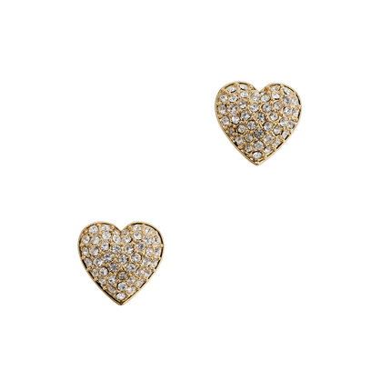 Pavé heart earrings
