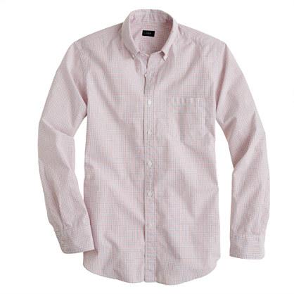 Secret Wash shirt in orange tattersall