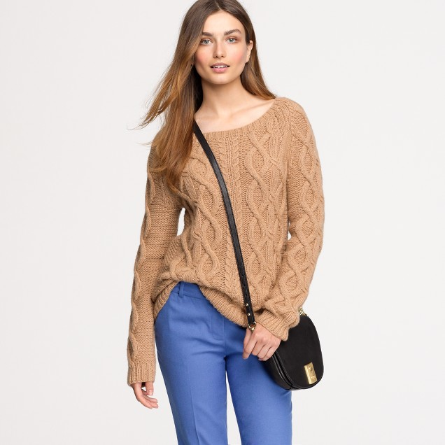 Italian camel cable sweater
