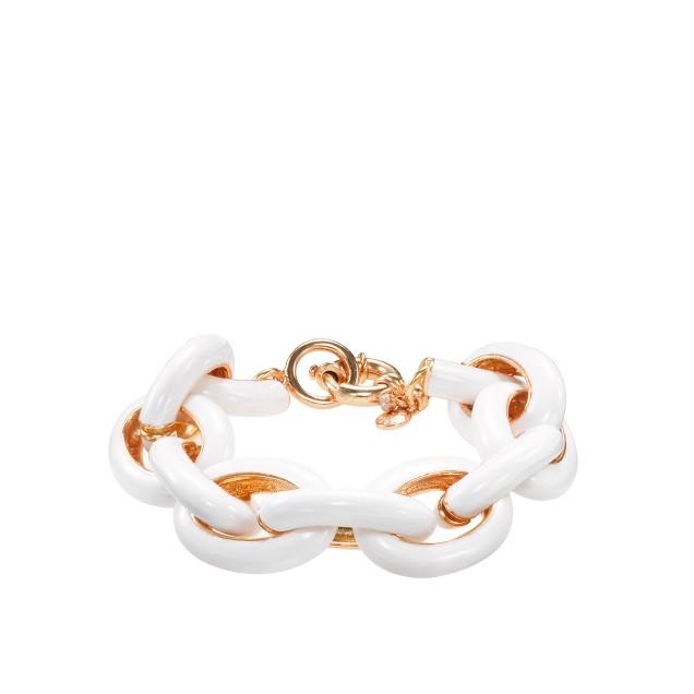Classic enamel link bracelet