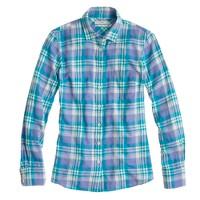 Boy shirt in peri plaid