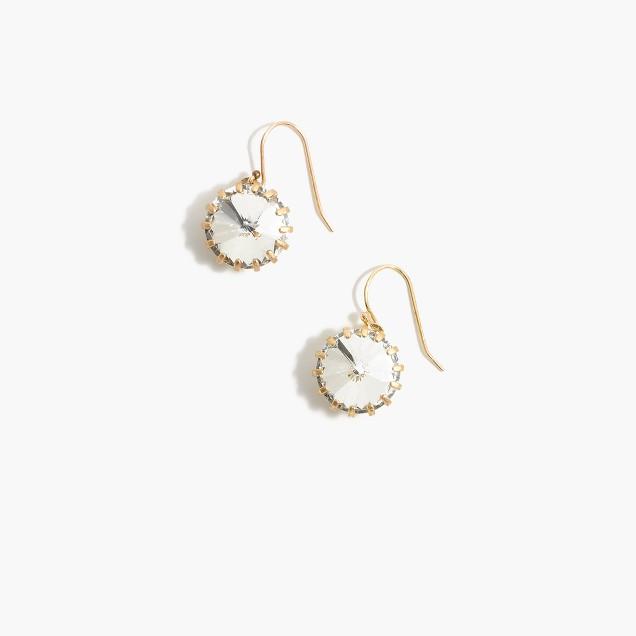 Crystal Venus flytrap earrings