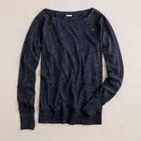Button-shoulder sweatshirt tee