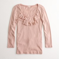 Factory perfect-fit ruffled scoopneck tee