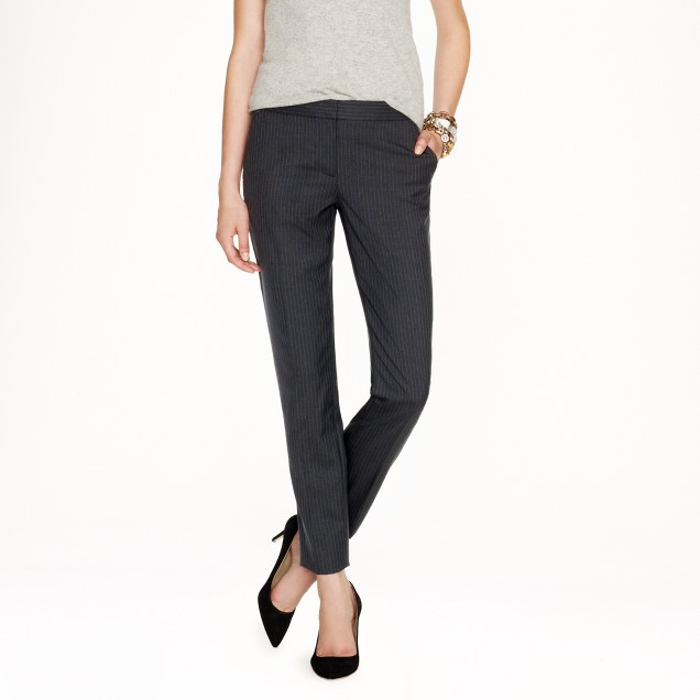 Paley pant in pinstripe Super 120s wool