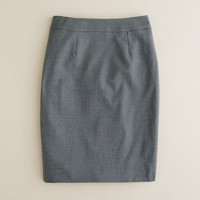 In-box skirt in Super 120s