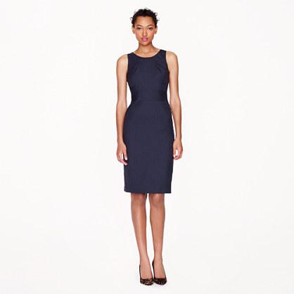 Petite Emmaleigh dress in pinstripe Super 120s