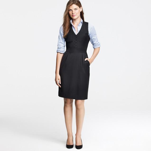 Gallerist dress in Super 120s