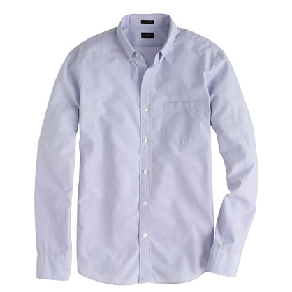 Slim Secret Wash shirt in frosted plum stripe