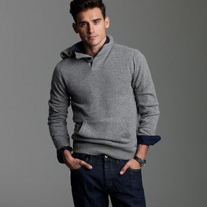 Mens wool hoodie