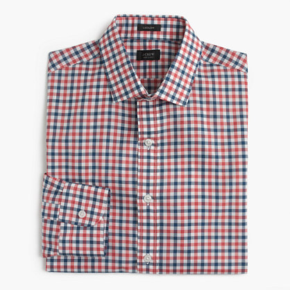 Ludlow shirt in bicolor gingham