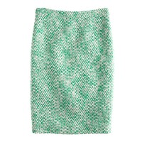 Petite No. 2 pencil skirt in clover tweed