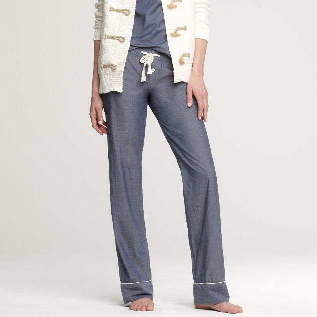 Chambray sleep pant