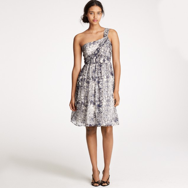 Lucienne dress in printed silk chiffon