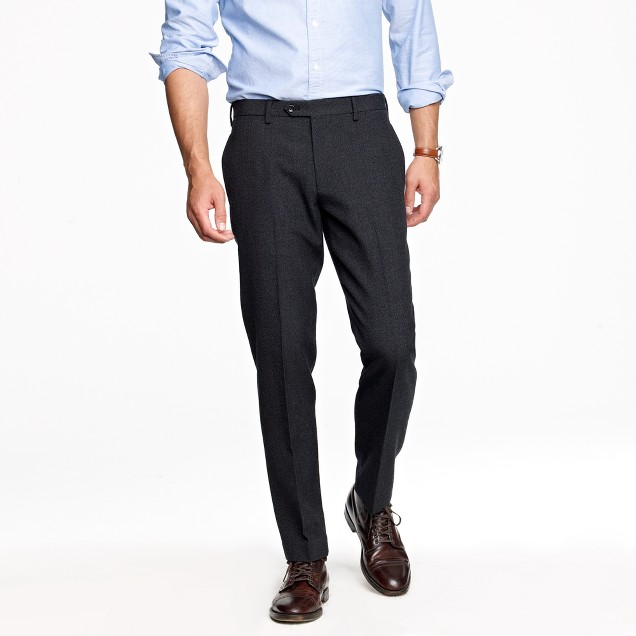 Ludlow slim Fielding suit pant in thornproof English wool