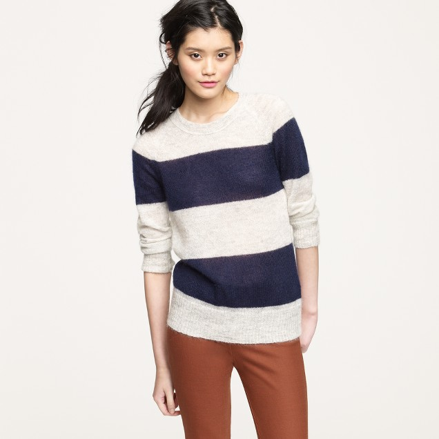 Mohair rugby-stripe sweater