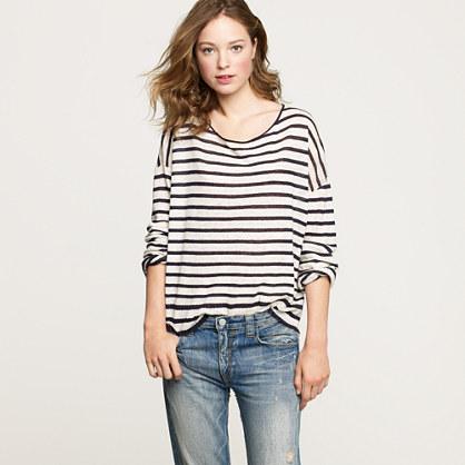 Nili Lotan® stripe boyfriend sweater