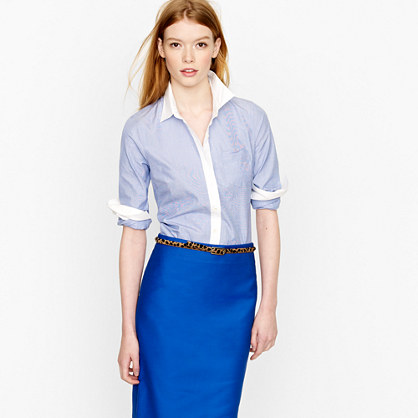 End-on-end perfect shirt with french cuffs
