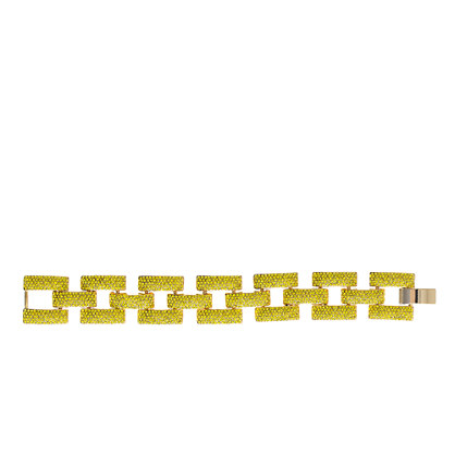 Square pavé link bracelet