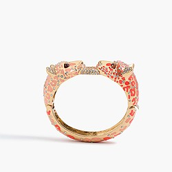 Enameled leopard bangle