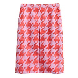 Pixelated houndstooth skirt