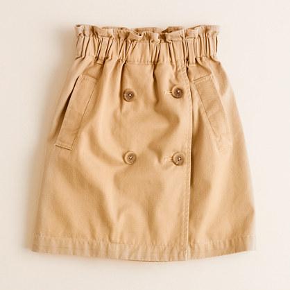 Girls' trench skirt